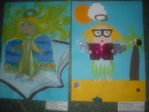 Zaczytany anioł Amelii Meksuły po prawej, po lewej aniołek Amelii Kaplity