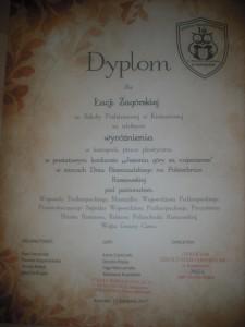 Dyplom Łucji Zagórskiej z kl. I