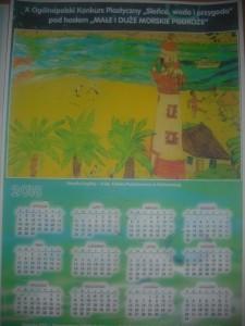 Nagrodzona praca Amelii Kaplity w formie kalendarza