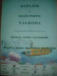 Dyplom Amelii Kaplity z kl. III