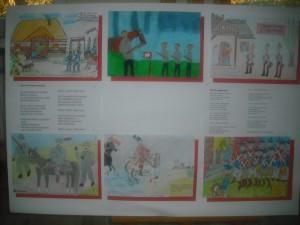 Niektóre prace zaprezentowane na wystawie
